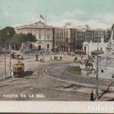 Postales: MUY BUENA POSTAL DE BARCELONA - PUERTA DE LA PAZ - Nº 1003 DE AUTOCROMO THOMAS - BUS. Lote 70219349