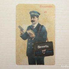 Postales: POSTAL DE CARTERO CON DESPLEGABLE DE MINI VISTAS, RECUERDOS DE GIRONELLA. Lote 70323393