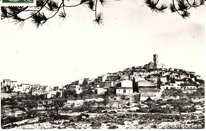 POSTAL FOTOGRÁFICA DE LA FIGUERA-TARRAGONA- .-VISTA GENERAL -CIRCULADA A BARCELONA (Postales - España - Cataluña Moderna (desde 1940))