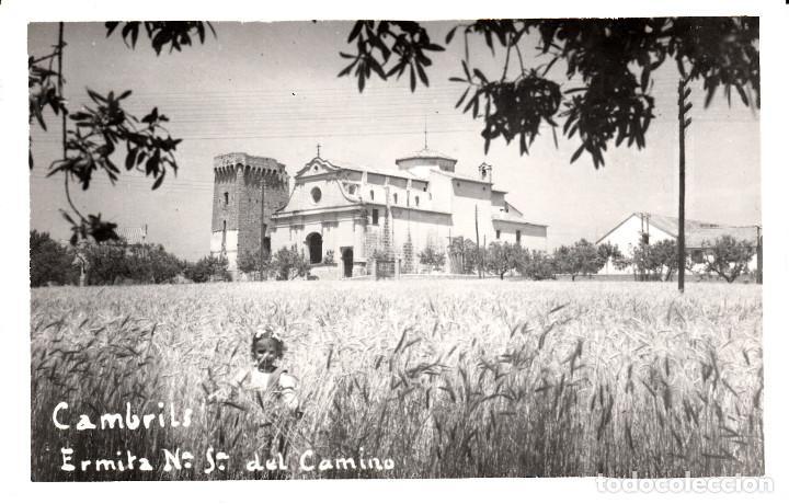 POSTAL FOTOGRAFICA DE CAMBRILS-ERMITA N.SRA DEL CAMINO- SIN EDITOR - CIRCULADA CON TASA-SIN SELLO- (Postales - España - Cataluña Moderna (desde 1940))