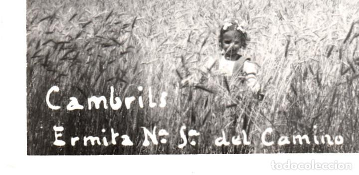 Postales: POSTAL FOTOGRAFICA DE CAMBRILS-ERMITA N.SRA DEL CAMINO- SIN EDITOR - CIRCULADA CON TASA-SIN SELLO- - Foto 2 - 71520191
