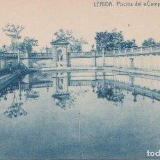 Postales: LÉRIDA - PISCINA DEL CAMPO DE SPORTS - FOTO GORDO. Lote 71628359