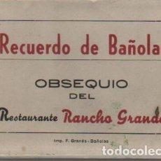 Postales: BLOC MINI POSTALES PUBLICIDAD DEL RESTAURANTE RANCHO GRANDE BAÑOLAS - LLUIS CULLELL. Lote 71650463