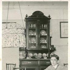 Postales: BARCELONA-FOTOGRÁFICA COMEDOR FAMILIAR-1936- LEONAR- MUY RARA. Lote 71842411