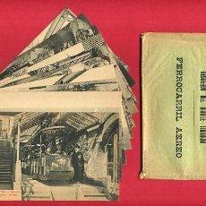 Postales: LOTE, SERIE 10 POSTALES FERROCARRIL AEREO RECUERDO MONTE TIBIDABO , ROISIN , ORIGINALES. Lote 72127079
