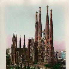 Postales: BARCELONA.SAGRADA FAMILIA.COLOREADA.L.ROISIN.SIN CIRCULAR. Lote 72157039