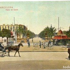 Postales: PS7237 BARCELONA 'PASEO DE COLÓN'. DR. TRENKLER. SIN CIRCULAR. PRINC. S. XX. Lote 72224111