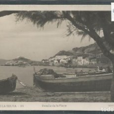 Postales: PORT DE LA SELVA - PUERTO DE LA SELVA - DETALLE DE LA PLAYA - EDIT. LLENSA - VER REVERSO - (45.911). Lote 72248987