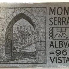 Postales: ÁLBUM CON 96 VISTAS DE MONTSERRAT. BARCELONA.. Lote 72353335
