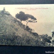 Postales: TARJETA POSTAL ANTIGUA Nº3 DE PALAFRUGELL-FARO Y CABO DE S.SEBASTIAN DE L.ROISIN-SIN CIRCULAR. Lote 72367955