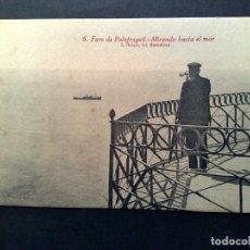 Postales: TARJETA POSTAL ANTIGUA Nº6 DE PALAFRUGELL-FARO-MIRANDO HACIA EL MAR,DE L.ROISIN-SIN CIRCULAR. Lote 72368223