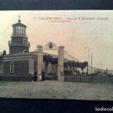 Postales: TARJETA POSTAL ANTIGUA Nº11 DE PALAFRUGELL-FARO ENTRADA,DE L.ROISIN-SIN CIRCULAR. Lote 72368411