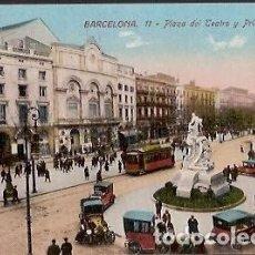Postales: ANTIGUA POSTAL BARCELONA 11 PLAZA DEL TEATRO Y PRINCIPAL PALACE ED J VENINI. Lote 73451767