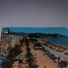 Postales: ANTIGUA POSTAL LLORET DE MAR PLAYA COSTA BRAVA 1962. Lote 74934587