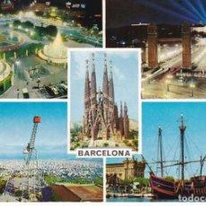 Postales: BARCELONA VISTAS VARIAS POSTAL NO CIRCULADA. Lote 75227451