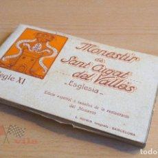 Postales: BLOC DE 20 POSTALES MONESTIR DE SANT CUGAT DEL VALLÉS - L. ROISIN. Lote 75267915