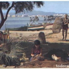 Postales: POSTAL ROSAS ESCENA TIPICA DE PESCADORES GIRONA ED. UBACH PUIG . Lote 77315813
