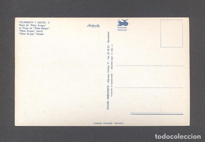 Postales: P2012.- VILLANUEVA Y GELTRU.- PLAYA DE RIBES ROIGES - Foto 2 - 77729001