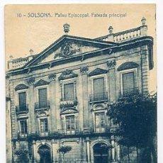 Postales: BARCELONA SOLSONA PALAU EPISCOPAL, FATXADA PRINCIPAL. FOTOTIPIA THOMAS. CIRCULADA. Lote 77825369