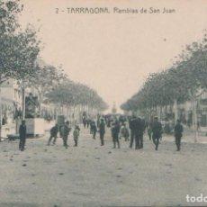 Postales: TARRAGONA - RAMBLAS DE SAN JUAN - FOTOTIPIA THOMAS - BARCELONA. Lote 77942605