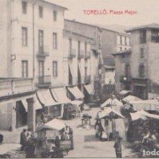 Postales: TORELLÓ (BARCELONA) - PLAZA MAYOR. Lote 77942689