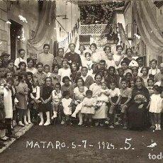Postales: ANTIGUA POSTAL FOTOGRAFICA - MATARO 5-7-1924 - N. 5 - FIESTAS. Lote 78231557