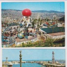 Postales: BARCELONA PUERTO ZERKOWITZ 2133 Y MONTJUIC. CAMPAÑÀ SERIE II, 48. CIRCULADAS. Lote 78458785