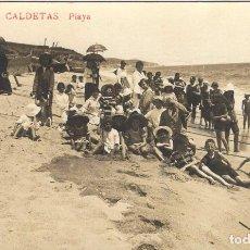 Postales: ANTIGUA POSTAL CALDETAS - PLAYA. Lote 78547665