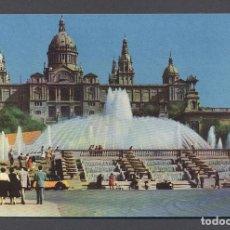 Postales: P2060.- BARCELONA. PALACIO NACIONAL Y FUENTE MONUMENTAL. Lote 78610813