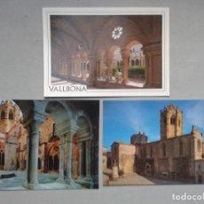 Postales: LOTE DE 3 POSTALES DEL MONASTERIO DE VALLBONA.. Lote 80085141