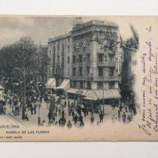 Postales: POSTAL, 14 HAUSER Y MENET,BARCELONA, RAMBLA DE LAS FLORES, 1902. Lote 80370321