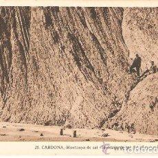 Postales: POSTAL DE CARDONA , MONTANYA DE SAL, ED. ANTONIO BADIA Nº 26 . Lote 80515029