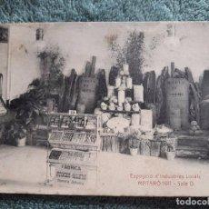 Postales: POSTAL MATARÓ / EXPOSICIÓ D'INDUSTRIES LOCALS SALA D / 1911 / ANGEL TOLDRÁ VIAZO -BARCELONA / SIN US. Lote 80550750