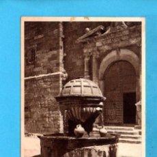 Postales: POSTAL DE PRADES FUENTE DE LA PLAZA FOTO DE RIEUSSET ESCRITA EL AÑO 1955 . Lote 81164612