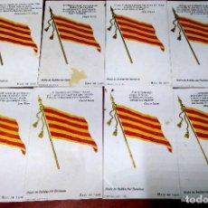 Postales: TARJETA POSTAL,8 ANTIGUAS POSTALES,AÑO 1906,CATALUÑA.FESTA DE LA SOLIDARITAT CATALANA,S/C,MUY RARAS. Lote 81217596