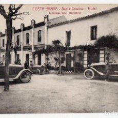 Postales: COSTA BRAVA. SANTA CRISTINA. HOTEL. COCHES ANTIGUOS.. Lote 81458416