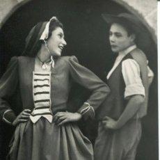 Postales: BARCELONA-BAILE CATALÁN-FOTOGRÁFICA-J. ORTIZ-1953-PUBLICIDAD--MUY RARA. Lote 81475228