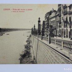 Postales: P- 6530. POSTAL LERIDA, VISTA DEL MURO Y PASEO. L. ROISIN.. Lote 81904532