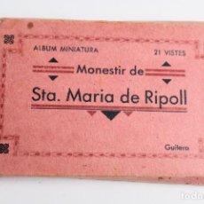 Postales: BP-108. MONESTIR SANTA MARIA DE RIPOLL, ALBUM MINIATURA. 24 VISTES. GUILERA.. Lote 81919628