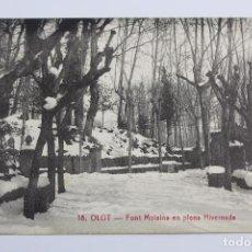 Postales: P- 6546. POSTAL OLOT, FONT MOIXINA EN PLENA HIVERNADA. Nº18.. Lote 81989628