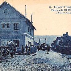 Postales: FERROCARRIL TRANSPIRENÁICO- ESTACIÓN DE PUIGCERDA. Lote 83275692