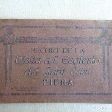 Postales: RECORT DE LA VISITA A L´ ESGLESIA DEL SANT CRIST.PIERA.-10580. Lote 54995128