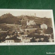 Postales: BARCELONA. 48. TIBIDABO. VISTA DEL FERROCARRIL FUNICULAR. L. ROISIN.. Lote 83673120