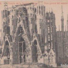Postales: BARCELONA - TEMPLO DE LA SAGRADA FAMILIA - VISTA GENERAL DEL EXTERIOR. Lote 83984728