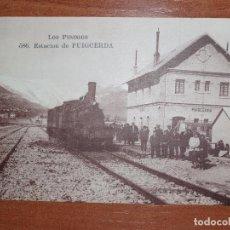 Postales: FOTO POSTAL PUIGCERDA.ESTACION DE PUIGCERDA, 596 MTIL. LOS PIRINEOS. Lote 84002948
