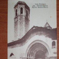 Postales: FOTO POSTAL PUIGCERDA. IGLESIA DE SANTA MARIA, SAINTE-MARIE. 431 MTIL. LOS PIRINEOS. Lote 84003412