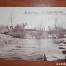 Postales: FOTO POSTAL LA CERDAGNE. CONFLUIENTE DEL SEGRE Y LA RIVIERE INTERTANITONALE. BOURG-MADAME. 782 MTIL.. Lote 84003752