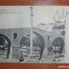 Postales: FOTO POSTAL MANRESA. PUENTE ROMANO Y CRUZ DE LA GUIA. A.G. DE L. ROCA.. Lote 84004980