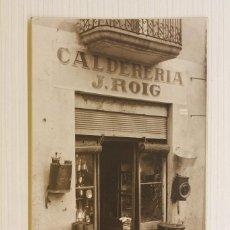 Postales: FOTOGRAFÍA CATALÀ, VALLS, MONTBLANC, CALDERERÍA J. ROIG, 13,50X8,50 CM. Lote 84479160