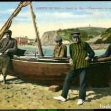 Postales: ARENYS DE MAR - GENTE DE MAR - 1913. Lote 84954464